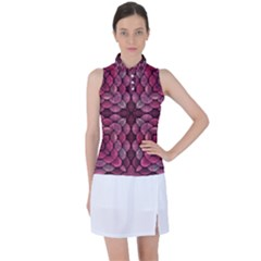 Abstract Pattern Mandala Decorative Women's Sleeveless Polo