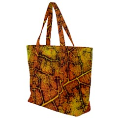 Autumn Leaves Forest Fall Color Zip Up Canvas Bag