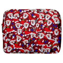 Nicholas Santa Christmas Pattern Make Up Pouch (large) by Wegoenart