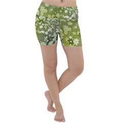 Flowers Abstract Background Lightweight Velour Yoga Shorts
