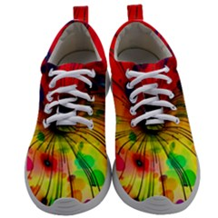 Color Background Structure Lines Mens Athletic Shoes by Wegoenart
