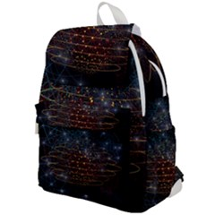 Network Abstract Connection Top Flap Backpack