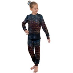 Network Abstract Connection Kids  Long Sleeve Set