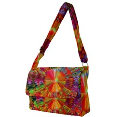 Kaleidoscope Mandala Color Full Print Messenger Bag (l)