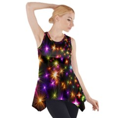 Star Colorful Christmas Abstract Side Drop Tank Tunic
