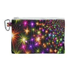 Star Colorful Christmas Abstract Canvas Cosmetic Bag (large) by Wegoenart