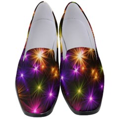 Star Colorful Christmas Abstract Women s Classic Loafer Heels by Wegoenart