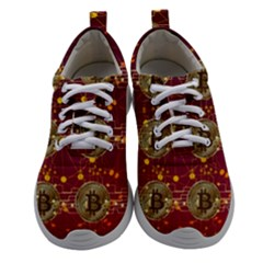 Block Chain Network Bitcoin Data Women Athletic Shoes