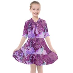 Abstract Texture Background Kids  All Frills Chiffon Dress