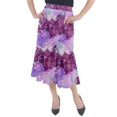Abstract Texture Background Midi Mermaid Skirt by Wegoenart