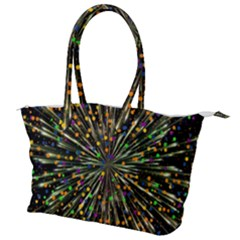 Explosion Abstract Pattern Canvas Shoulder Bag