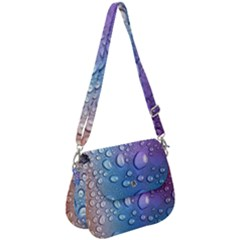 Drop Of Water Rainbow Wet Liquid Saddle Handbag