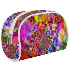 Bokeh Color Light Points Pattern Makeup Case (large)