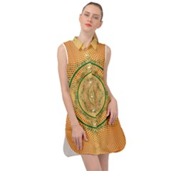 Mandalas Flower Mandalas Flowers Sleeveless Shirt Dress