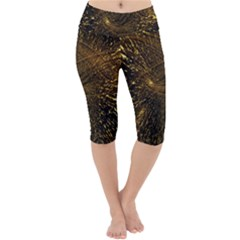 Quantum Physics Wave Particles Lightweight Velour Cropped Yoga Leggings