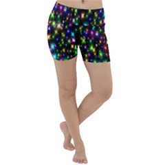 Star Colorful Christmas Abstract Lightweight Velour Yoga Shorts