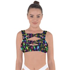 Star Colorful Christmas Abstract Bandaged Up Bikini Top