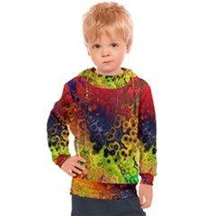 Color Abstract Colorful Art Kids  Hooded Pullover
