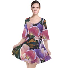 Impression Floral 9195 Velour Kimono Dress by MoreColorsinLife