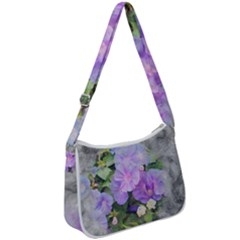 Impression Floral 01c Zip Up Shoulder Bag