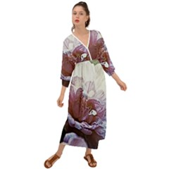 Impression Floral 10193 Grecian Style  Maxi Dress