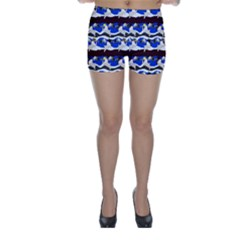 Angels Pattern Skinny Shorts by bloomingvinedesign