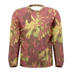 Tropical Vintage Floral Artwork Print Men s Long Sleeve Tee by dflcprintsclothing