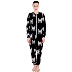 Bats In The Night Ornate Onepiece Jumpsuit (ladies)  by pepitasart