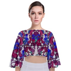 Netzauge Beautiful Tie Back Butterfly Sleeve Chiffon Top