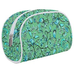 Green Flowers Makeup Case (medium)