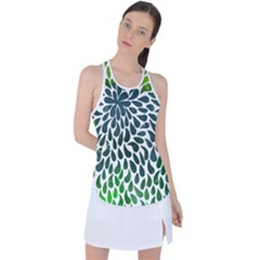 Abstract Drops Racer Back Mesh Tank Top