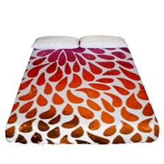 Rainbow Drops Fitted Sheet (queen Size) by goljakoff