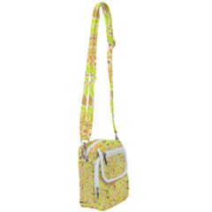 Yellow Abstract Drops Shoulder Strap Belt Bag