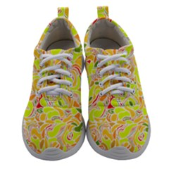 Yellow Abstract Drops Women Athletic Shoes by goljakoff