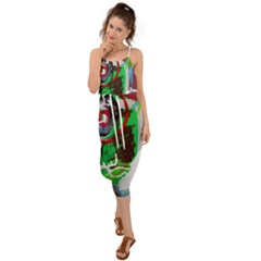 Happy Colors 1 1 Waist Tie Cover Up Chiffon Dress