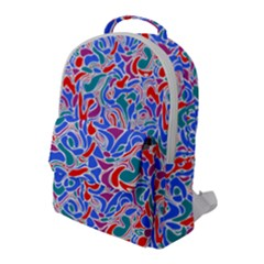 Abstract Drops Flap Pocket Backpack (large)