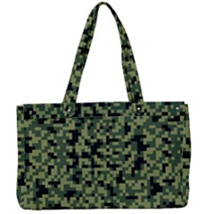 Pixel Military Pattern Canvas Work Bag