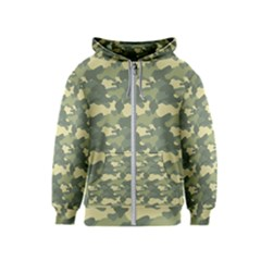 Forest Camoflauge Kids  Zipper Hoodie by goljakoff