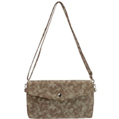 Desert Forest Camo Removable Strap Clutch Bag