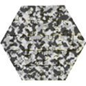 Winter forest camo pattern Wooden Puzzle Hexagon View1