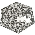 Winter forest camo pattern Wooden Puzzle Hexagon View2