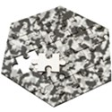 Winter forest camo pattern Wooden Puzzle Hexagon View3