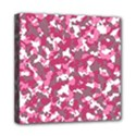 Pink camo pattern Mini Canvas 8  x 8  (Stretched) View1