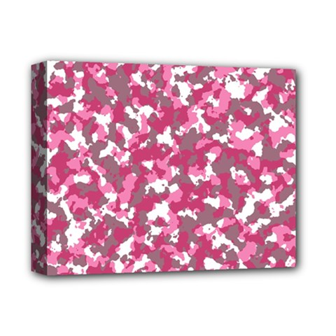 Pink Camo Pattern Deluxe Canvas 14  X 11  (stretched)