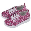 Pink camo pattern Kids  Lightweight Sports Shoes View2