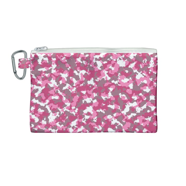 Pink camo pattern Canvas Cosmetic Bag (Medium)