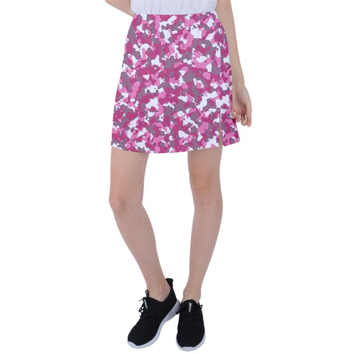 Pink camo pattern Tennis Skirt
