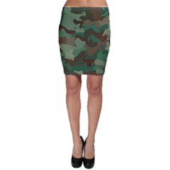 Forest Camo Pattern Bodycon Skirt