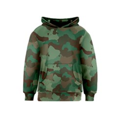Forest Camo Pattern Kids  Pullover Hoodie
