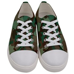 Forest Camo Pattern Women s Low Top Canvas Sneakers